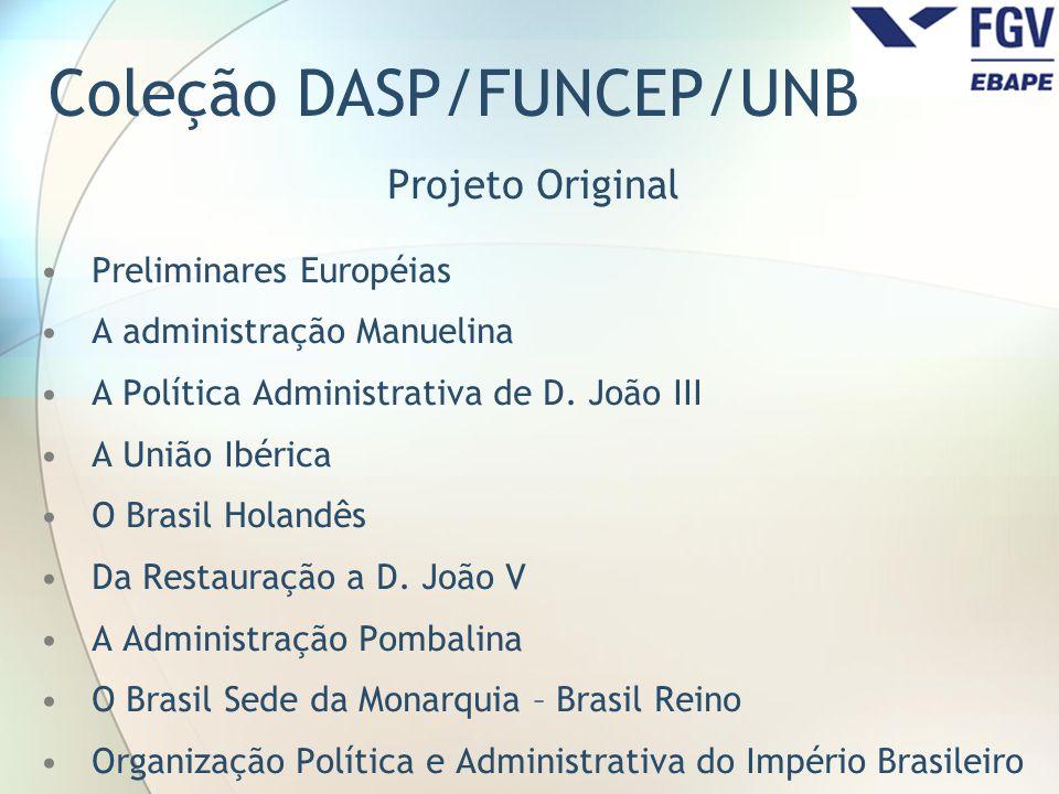 Coleção DASP/FUNCEP/UNB