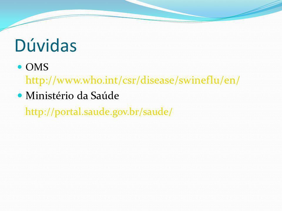 Dúvidas Ministério da Saúde http://portal.saude.gov.br/saude/