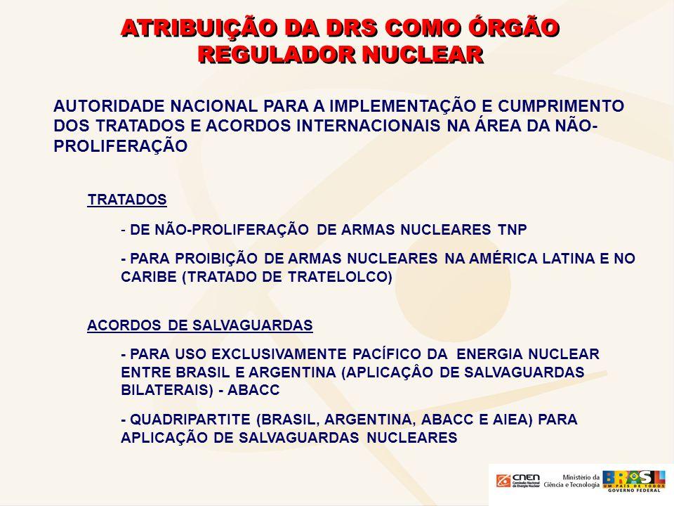 ATRIBUIÇÃO DA DRS COMO ÓRGÃO REGULADOR NUCLEAR