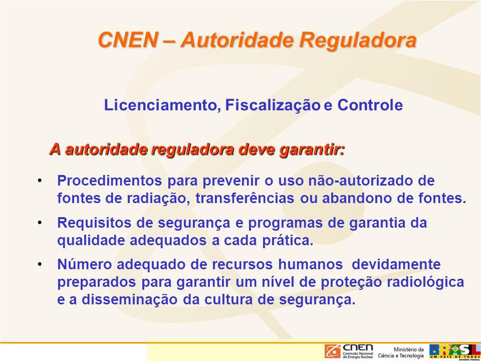 CNEN – Autoridade Reguladora Licenciamento, Fiscalização e Controle