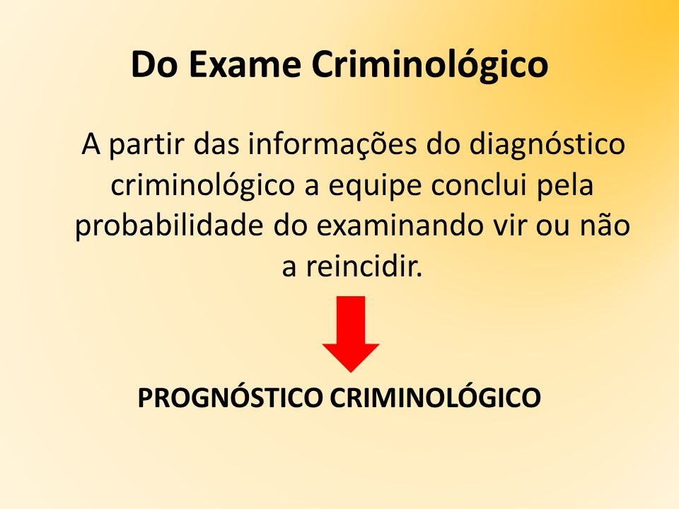 Do Exame Criminológico
