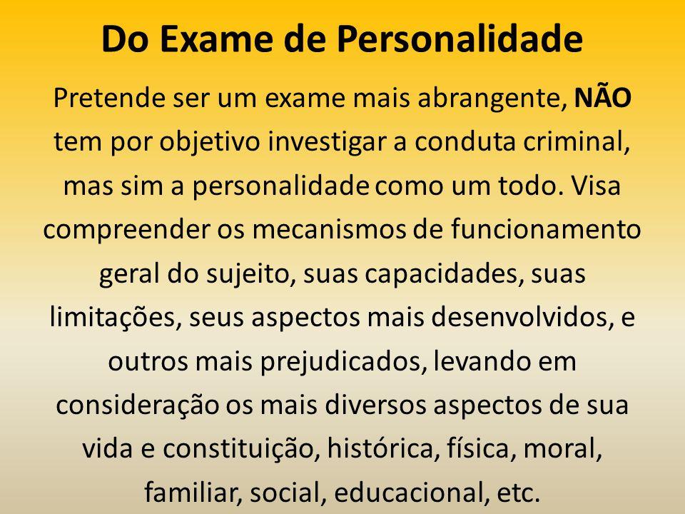 Do Exame de Personalidade