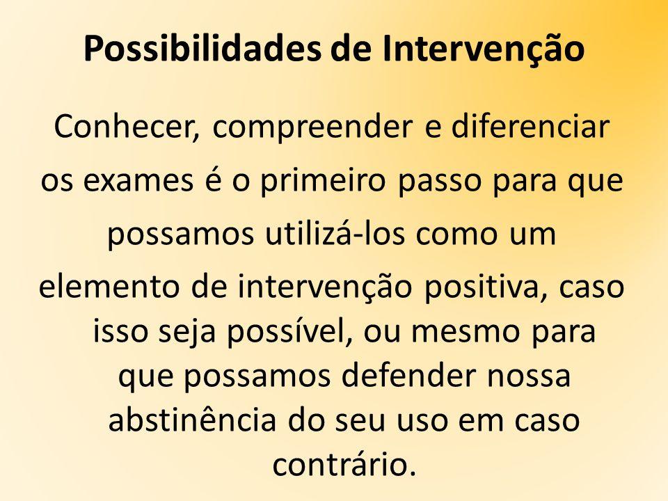 Possibilidades de Intervenção