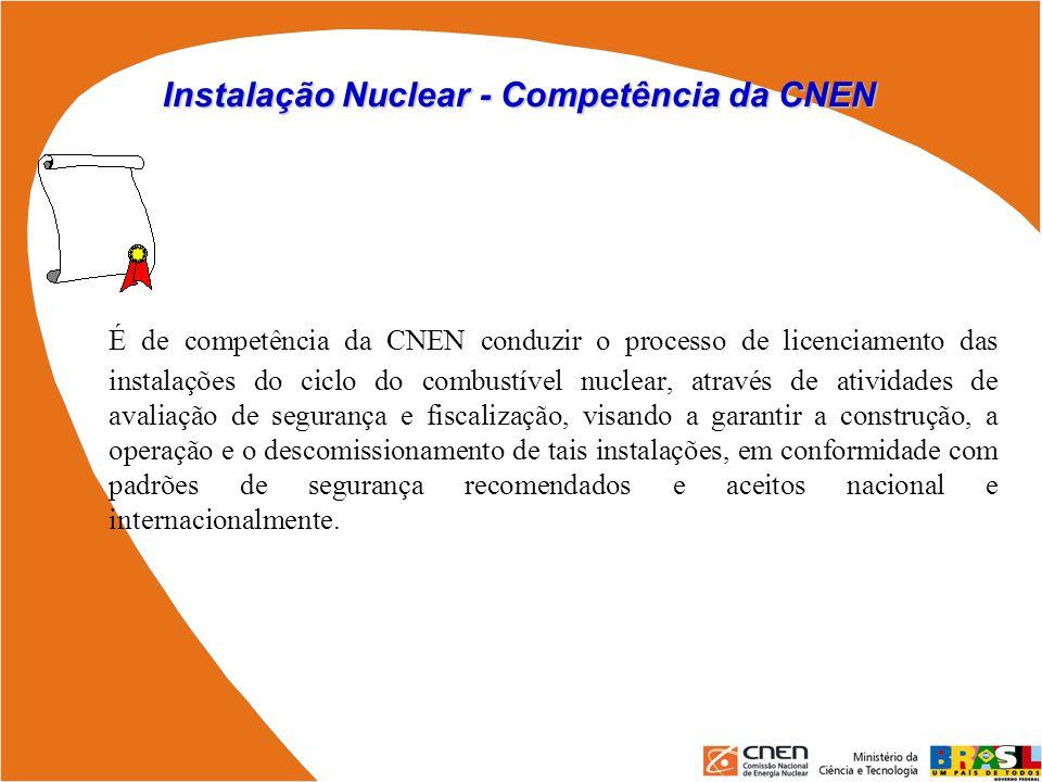 Instalação Nuclear - Competência da CNEN