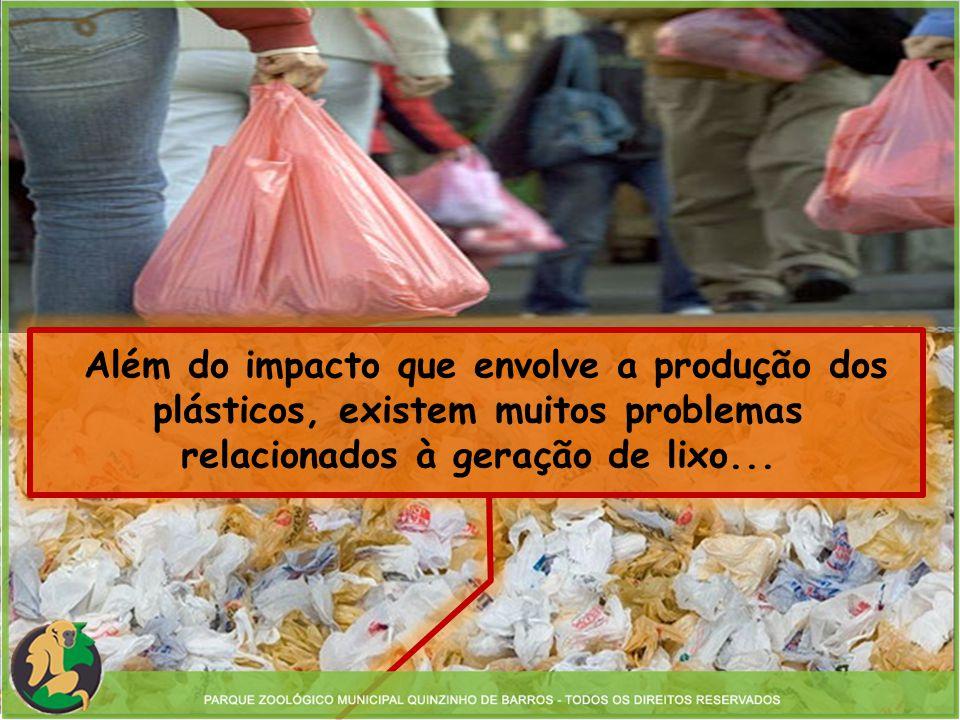 Além do impacto que envolve a produção dos plásticos, existem muitos problemas relacionados à geração de lixo...