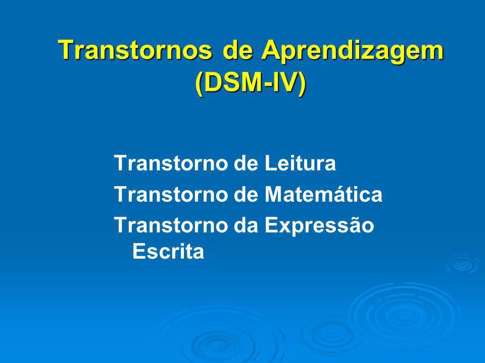 Transtornos de Aprendizagem (DSM-lV)