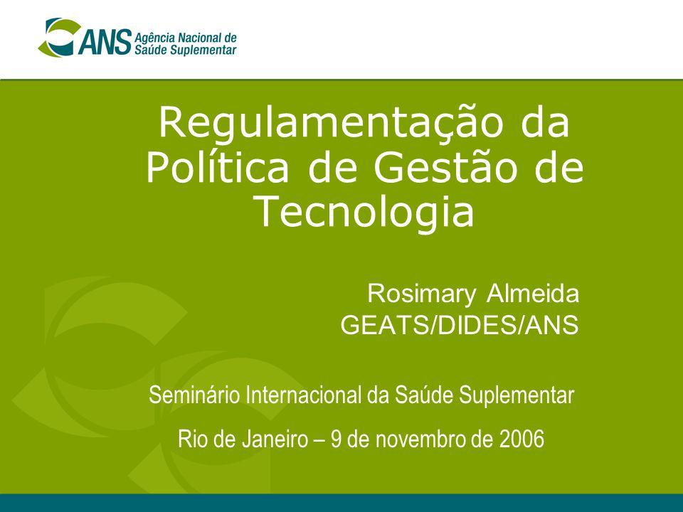 Regulamentação da Política de Gestão de Tecnologia