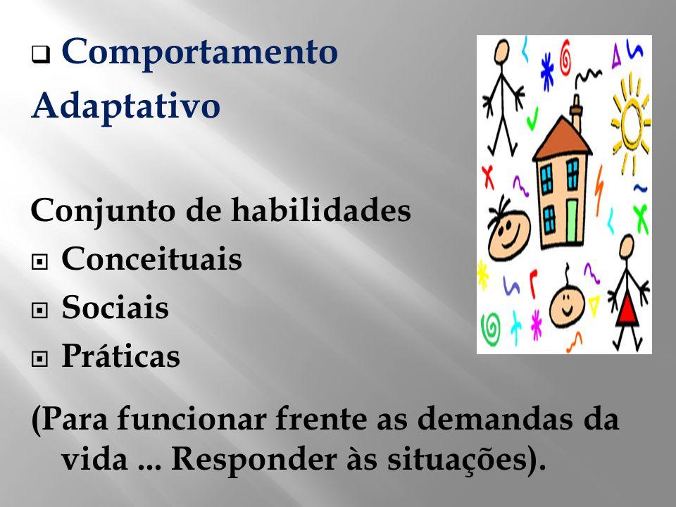 Comportamento Adaptativo Conjunto de habilidades Conceituais Sociais