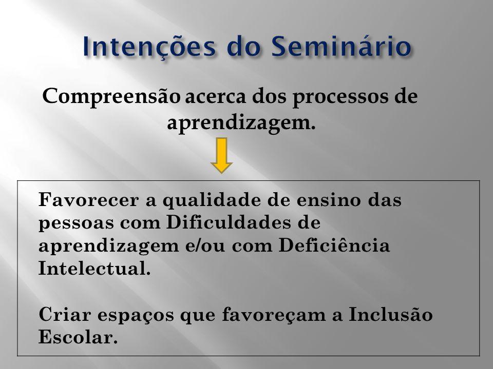 Intenções do Seminário