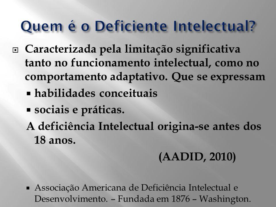 Quem é o Deficiente Intelectual