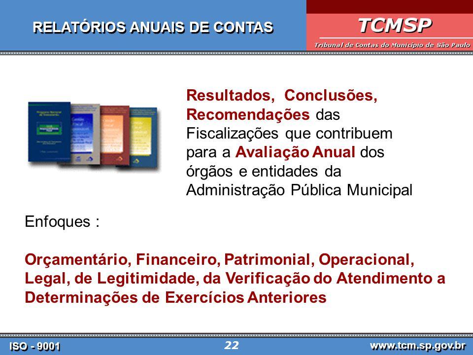 RELATÓRIOS ANUAIS DE CONTAS