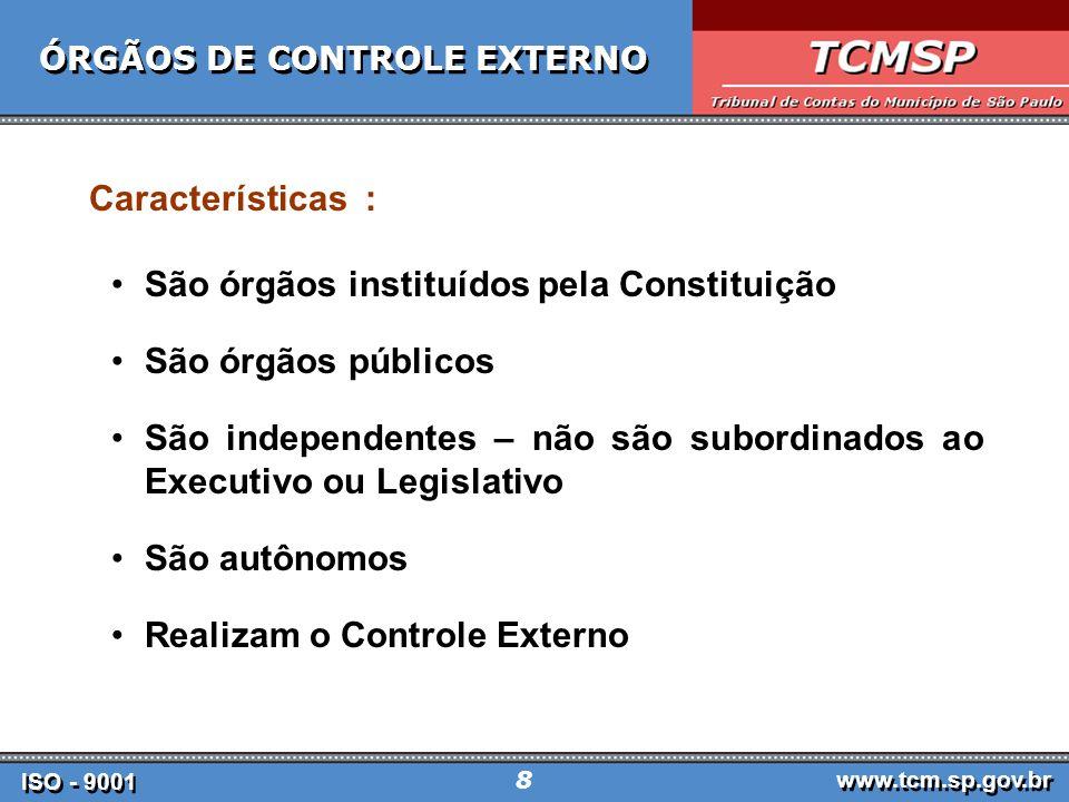 ÓRGÃOS DE CONTROLE EXTERNO