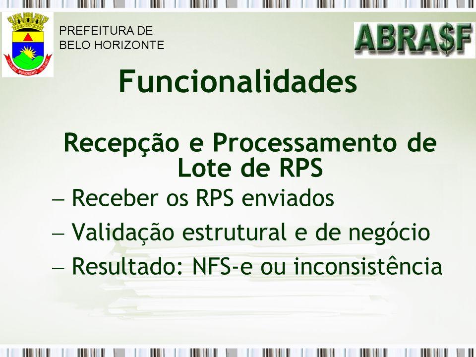 Recepção e Processamento de Lote de RPS