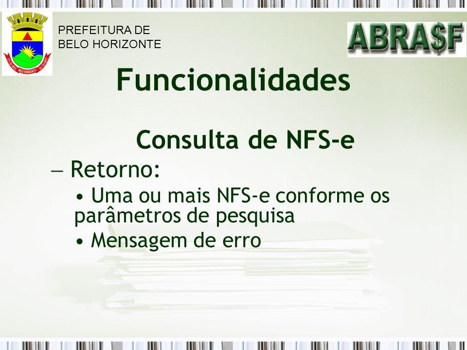 Consulta de NFS-e Retorno: Funcionalidades