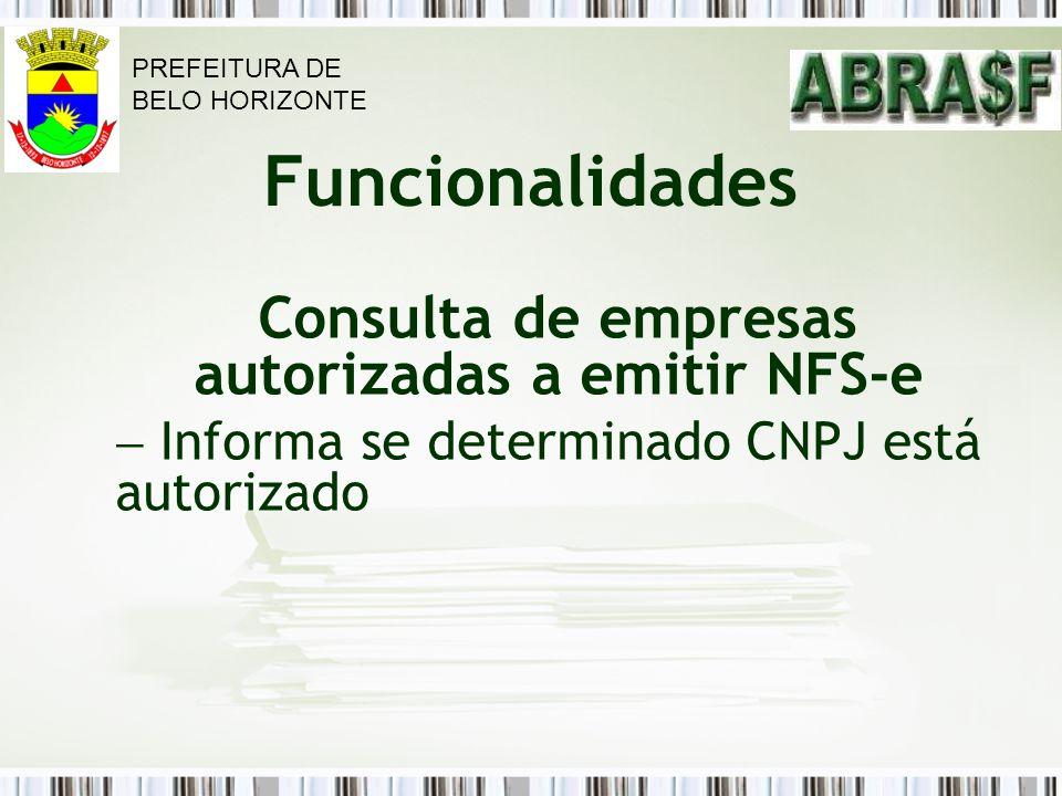 Consulta de empresas autorizadas a emitir NFS-e