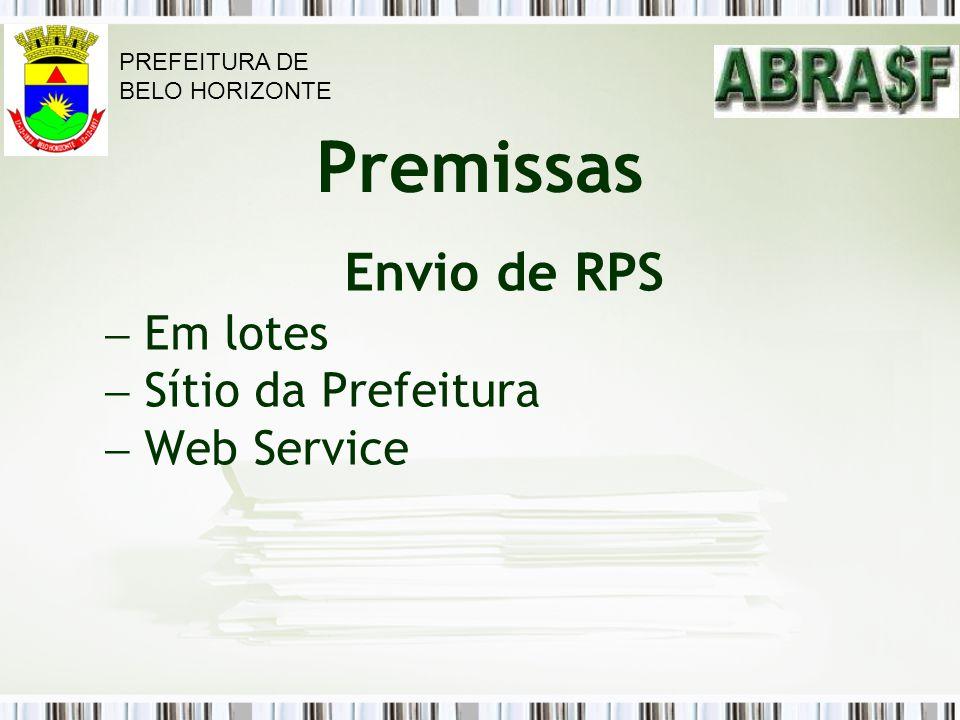 Envio de RPS Em lotes Sítio da Prefeitura Web Service