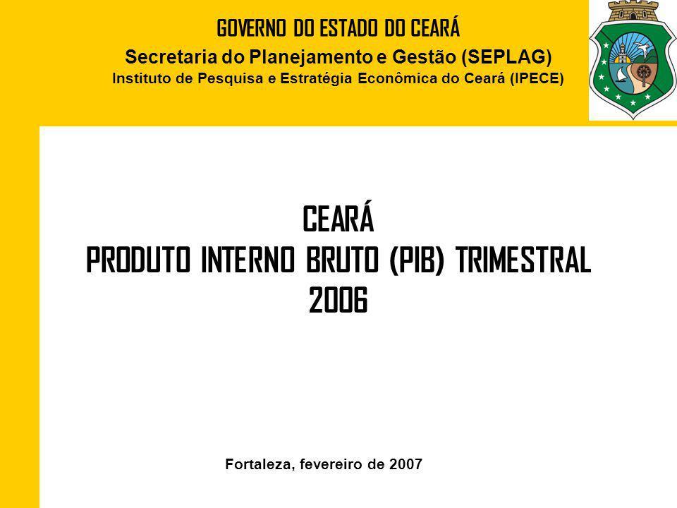 CEARÁ PRODUTO INTERNO BRUTO (PIB) TRIMESTRAL 2006