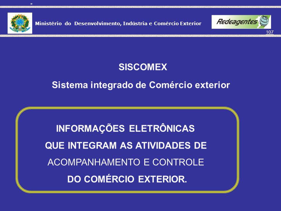 Sistema integrado de Comércio exterior INFORMAÇÕES ELETRÔNICAS