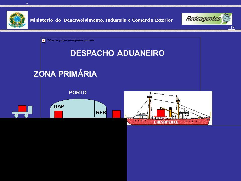 DESPACHO ADUANEIRO ZONA PRIMÁRIA PORTO RFB DAP
