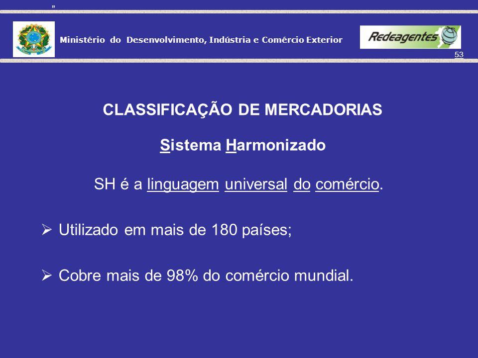 CLASSIFICAÇÃO DE MERCADORIAS Sistema Harmonizado
