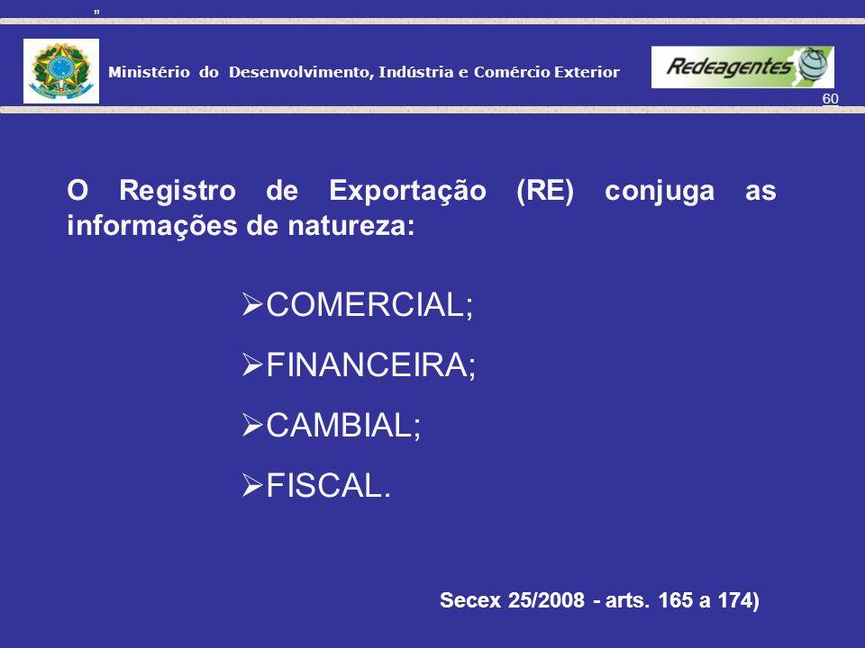 (Portaria Secex 25/2008 - arts. 165 a 174)