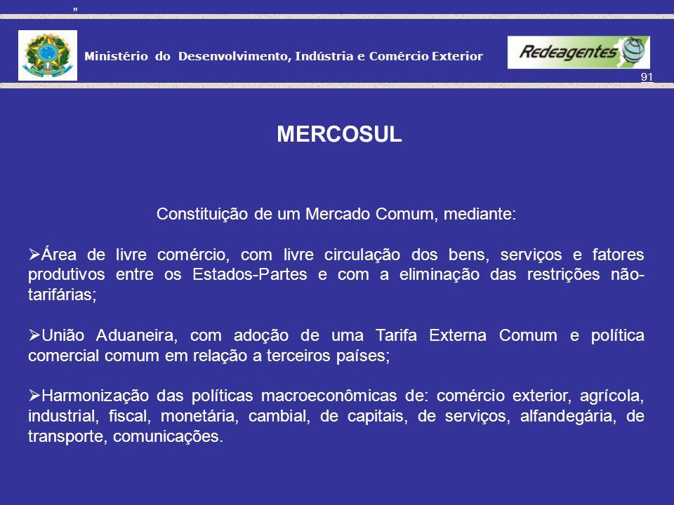 Constituição de um Mercado Comum, mediante: