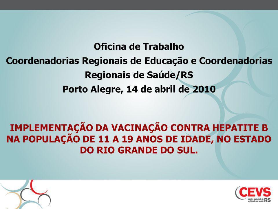 Coordenadorias Regionais de Educação e Coordenadorias