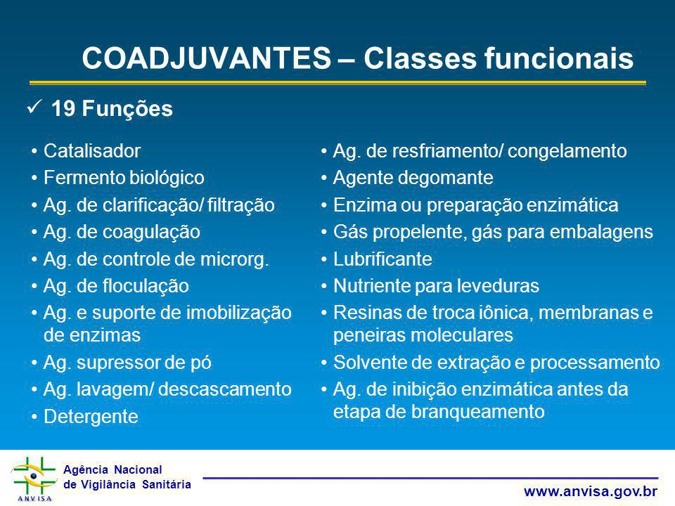 COADJUVANTES – Classes funcionais