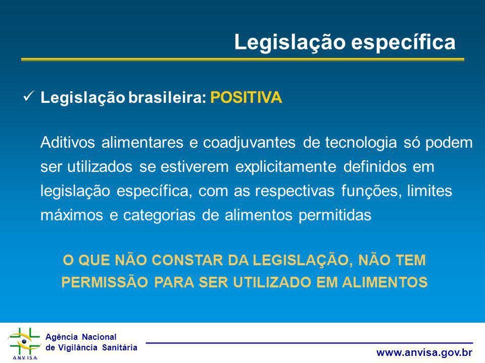 Legislação específica