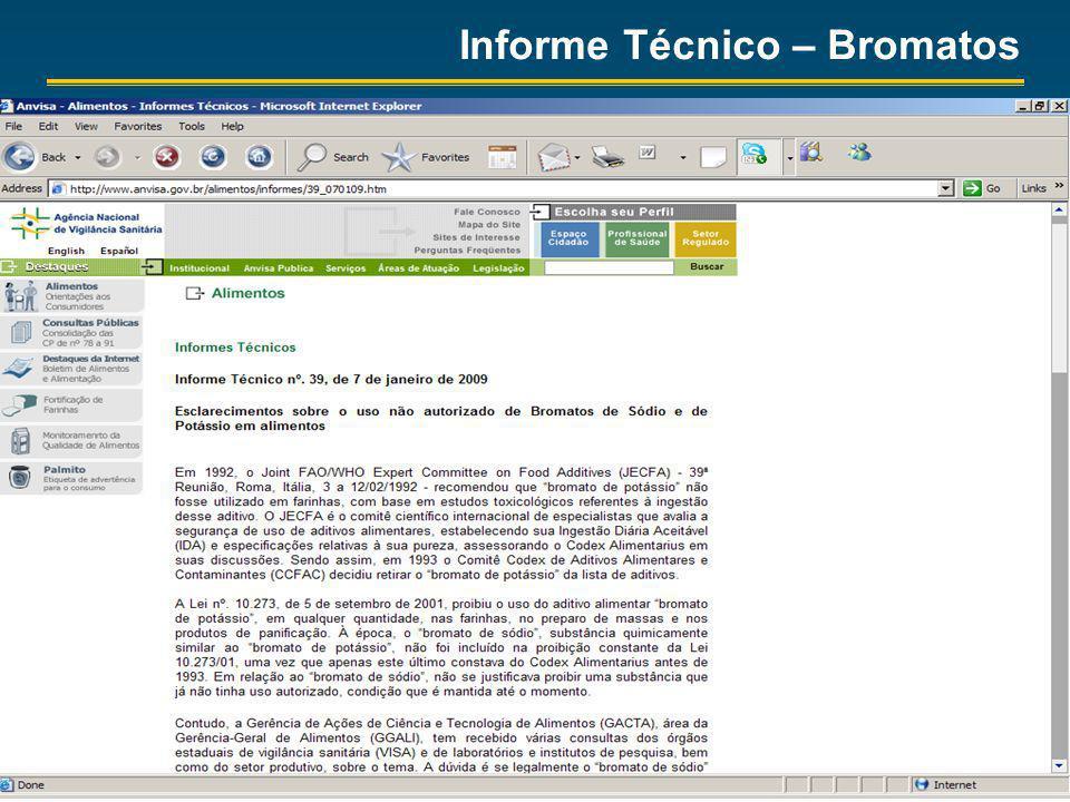 Informe Técnico – Bromatos