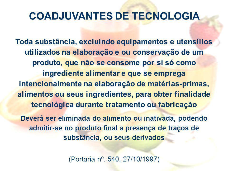 COADJUVANTES DE TECNOLOGIA