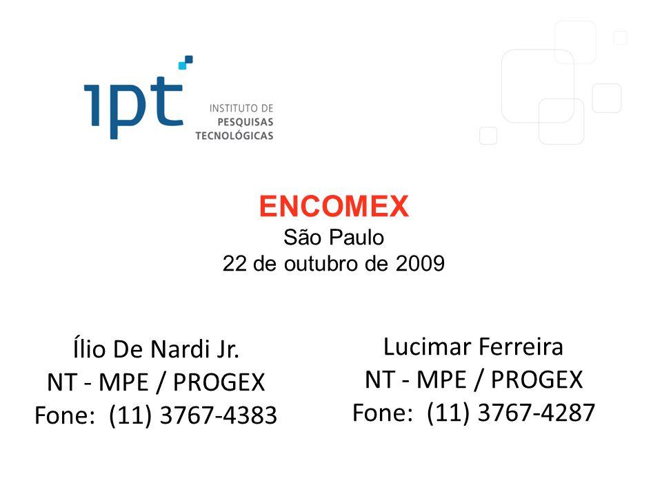 ENCOMEX São Paulo 22 de outubro de 2009