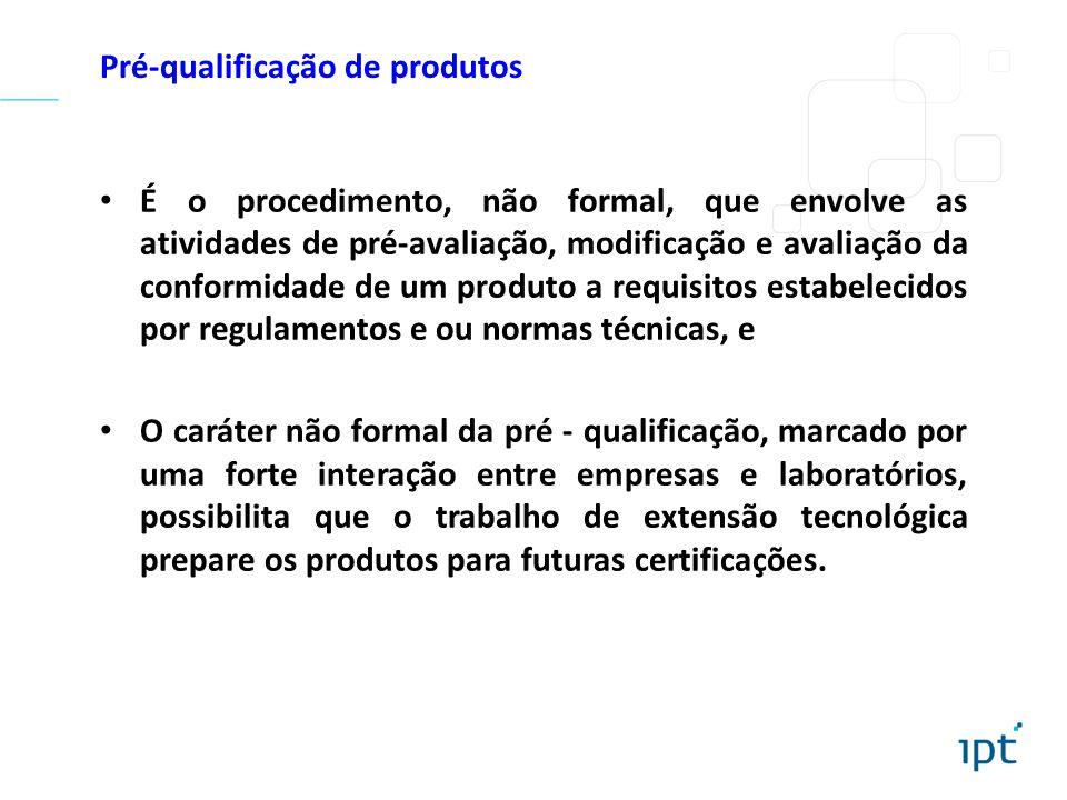 Pré-qualificação de produtos
