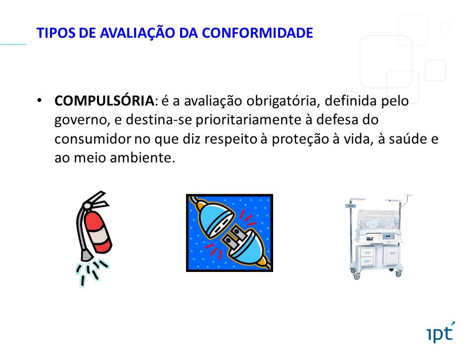 TIPOS DE AVALIAÇÃO DA CONFORMIDADE