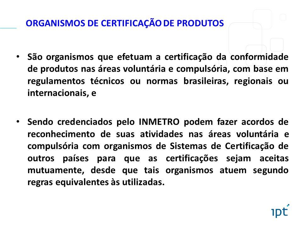 ORGANISMOS DE CERTIFICAÇÃO DE PRODUTOS