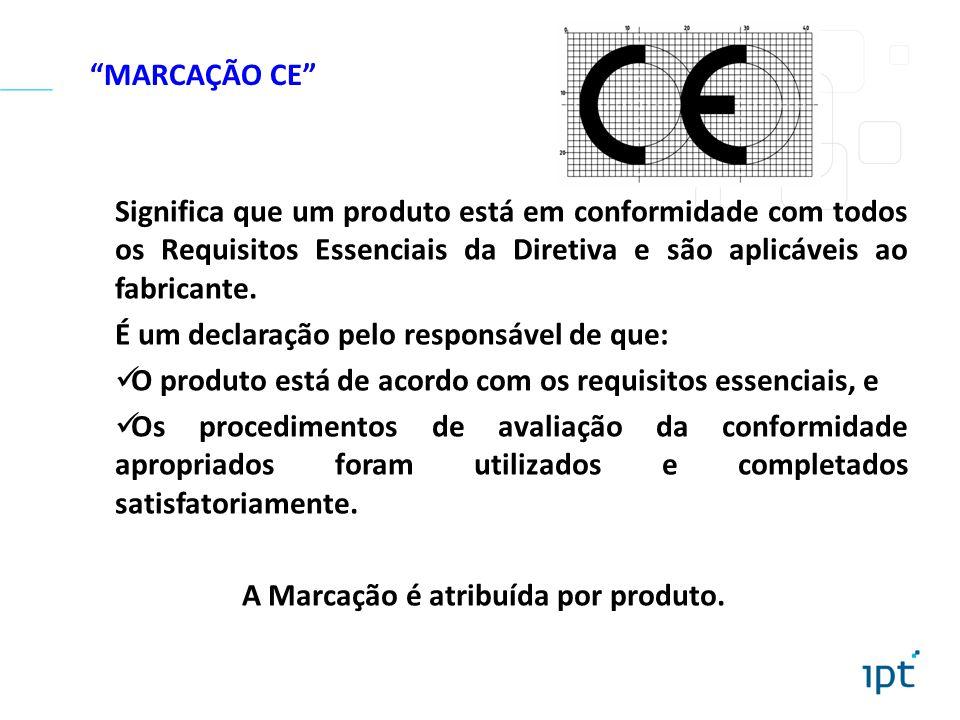 A Marcação é atribuída por produto.