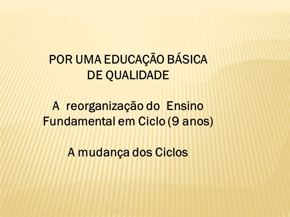 POR UMA EDUCAÇÃO BÁSICA DE QUALIDADE