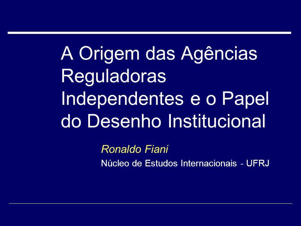 Ronaldo Fiani Núcleo de Estudos Internacionais - UFRJ