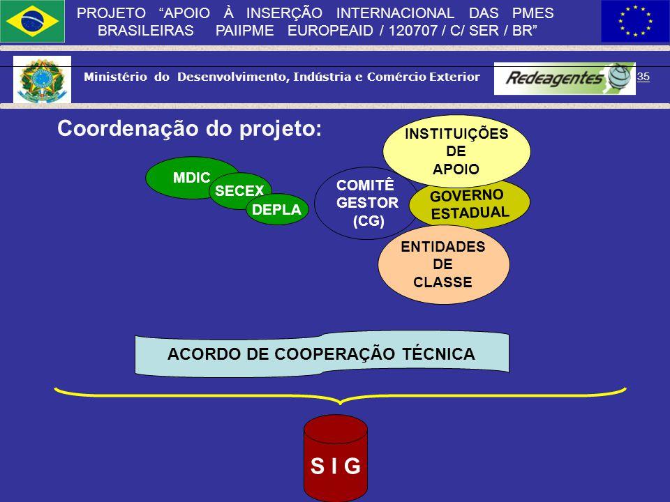 ACORDO DE COOPERAÇÃO TÉCNICA