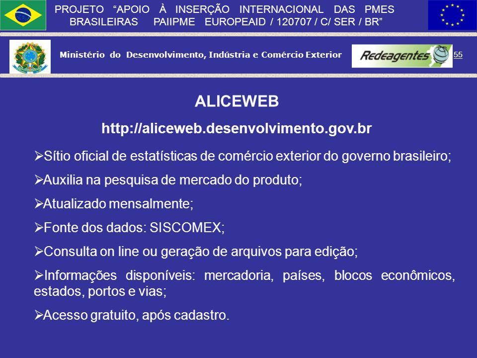 ALICEWEB http://aliceweb.desenvolvimento.gov.br