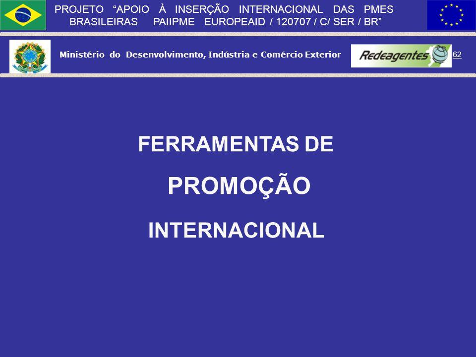 FERRAMENTAS DE PROMOÇÃO INTERNACIONAL