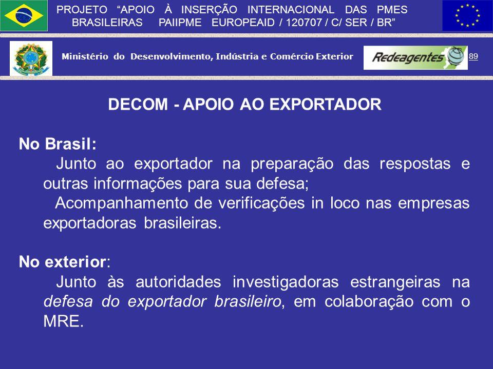 DECOM - APOIO AO EXPORTADOR