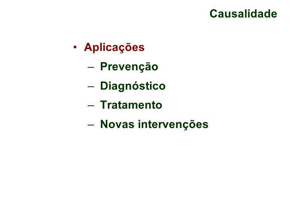 Causalidade Aplicações Prevenção Diagnóstico Tratamento Novas intervenções