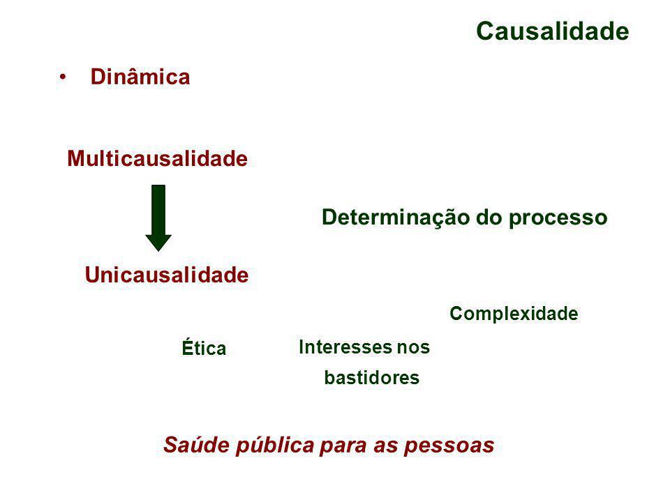 Causalidade Dinâmica Multicausalidade Determinação do processo