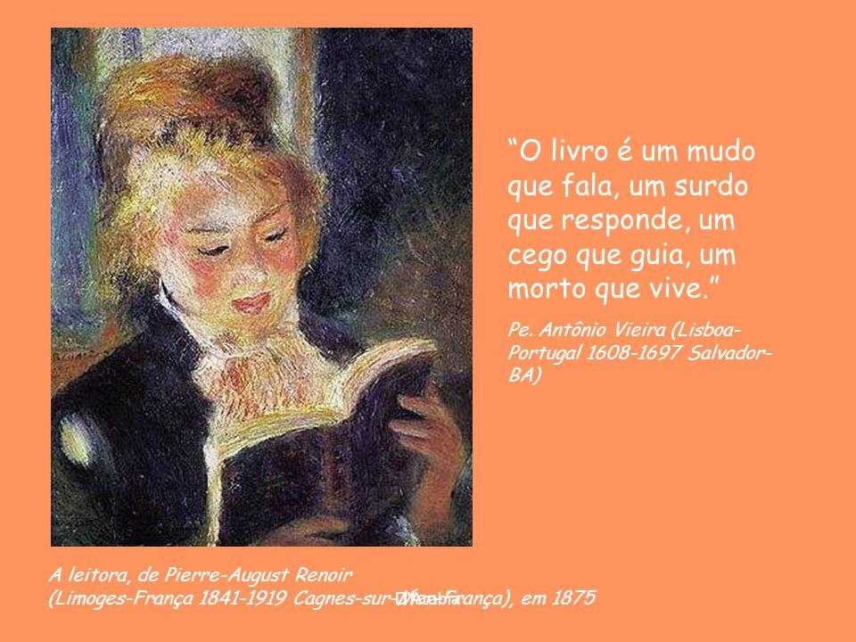 O livro é um mudo que fala, um surdo que responde, um cego que guia, um morto que vive.