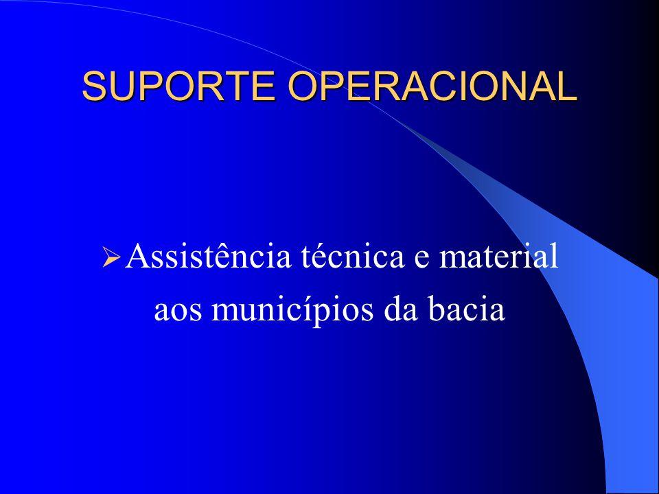 SUPORTE OPERACIONAL Assistência técnica e material