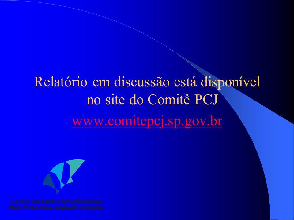 Relatório em discussão está disponível no site do Comitê PCJ
