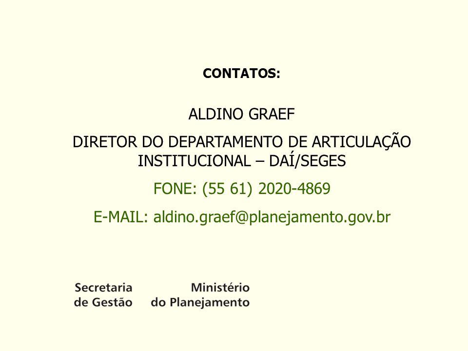 DIRETOR DO DEPARTAMENTO DE ARTICULAÇÃO INSTITUCIONAL – DAÍ/SEGES