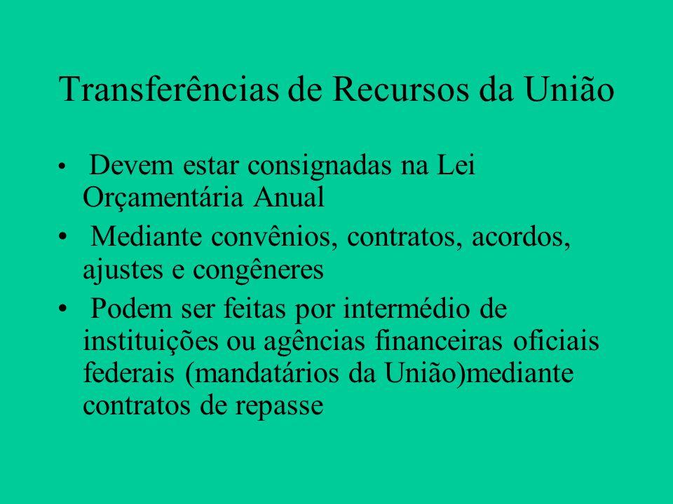 Transferências de Recursos da União