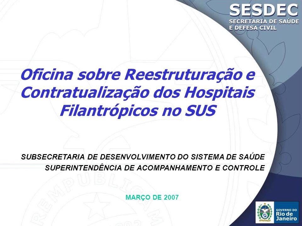 Oficina sobre Reestruturação e Contratualização dos Hospitais Filantrópicos no SUS